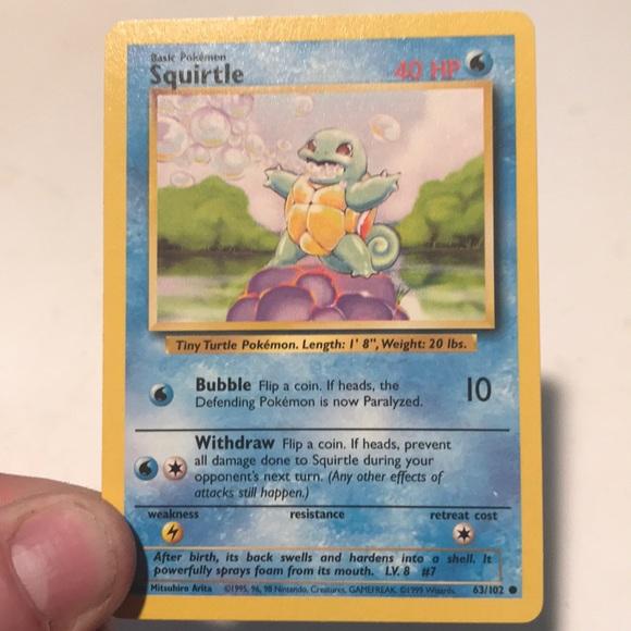 Squirtle Pokemon Card (base set)